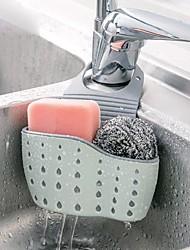 cheap -Kitchen Sink Double Layer Drain Hanging Bag Sink Storage Supplies Hanging Basket Drain Rack