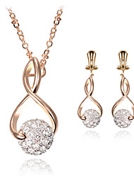 cheap -Women's Jewelry Set Bridal Jewelry Sets Geometrical Precious Fashion Gold Plated Earrings Jewelry Gold For Christmas Wedding Party Evening Gift Formal 1 set