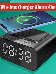 cheap -AEC Clock Radios FM Radio / Alarm Clock / Wireless Charging / Bluetooth Speaker / LED Display Rechargeable