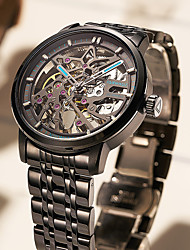 cheap -men's automatic mechanical watch hollow waterproof