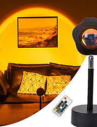 cheap -Sunset Projection Lamp 180°Rotation LED Rainbow Projector Night Lights Decorative Atmosphere Stand Floor Lamps with 7 Lighting Colors & Flower Shape Light Head for Bedroom Living Room