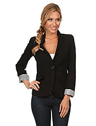 cheap -boyfriend blazer jacket for women black, red, white blazers long sleeve plus inc