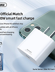 cheap -Remax PD Fast Charger 20W Quick Charge Adpter Support PD3.0/2.0, QC3.0/2.0 and FCP Protocol Fast Charger Suitable for PD Chargers for iPhone 12 Pro Max 12Mini Samsung S21 S20 and Other Android