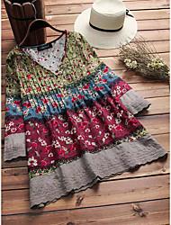 cheap -Women's Plus Size Tops Blouse Shirt Graphic Tribal Large Size Round Neck Long Sleeve Big Size L XL 2XL 3XL 4XL Green