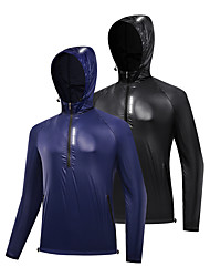 cheap -WOSAWE Men's Cycling Jacket Bike Jacket Tracksuit Windbreaker Waterproof Sports Solid Color Black / Dark Blue Clothing Apparel Bike Wear Waterproof / Long Sleeve / Athletic