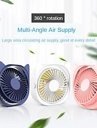 cheap -360 degree rotation usb portable fan mini quiet  desktop air cooler cute cat shaped personal electric cooling fan office home