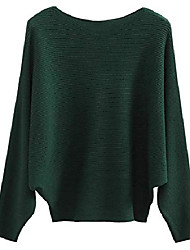 cheap -womens loose batwing sleeves knitted sweaters and pullovers tops