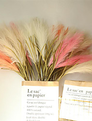 cheap -1pc Imitation Flower Reed Grass Tabletop Decoration 100x50cm