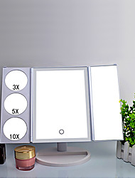 cheap -LED Vanity Mirror Three-Sided Folding Vanity Mirror Battery-Powered And USB-Powered Desktop Vanity Mirror