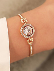 cheap -Women's Bracelet 3D Fashion Fashion Rhinestone Bracelet Jewelry Rose Gold / Gold / Silver For Christmas Party Evening Gift Date Birthday