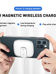 cheap -USAMS US-CD153 15W Wireless Charger For IPhone Magnetic Wireless Charger Fast Charging Pad For Xiaomi Huawei Samsung