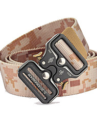 cheap -Belt Men's Military Tactical Belt Wearable Breathable Quick Release for Solid Colored Camo Nylon Fall Spring Summer