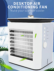 cheap -mini air cooling conditioner usb rechargeable fan  summer outdoor travel camping no leaf air cooling fan humidifier purifier