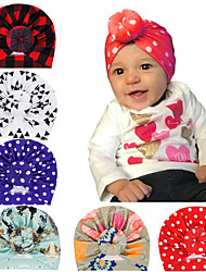cheap -1pcs Infant Unisex Active / Sweet Red Polka Dot / Check Bow Cotton Hats & Caps White / Blue / Red One-Size
