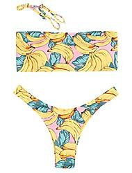 cheap -Women's Bikini Swimsuit Photo Color Swimwear Bathing Suits Casual