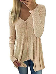 cheap -doubleyi women autumn and winter fashion loose v-neck loose oversize long-sleeved top sweatshirt long-sleeved shirts pullover solid color loose fit (3xl, at)
