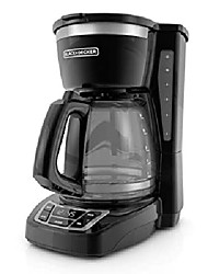 cheap -black + decker 12-cup programmable coffee maker, black, cm1160b