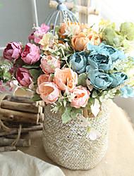 cheap -Artificial Flower Fabric Wedding Bouquet Tabletop Flower Bouquet 1pc H27cm