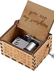 cheap -Wood Music Boxes,Laser Engraved Vintage Wooden Sunshine Musical Box Gifts for Birthday/Christmas/Valentine's Day(You are My Sunshine/Dad to Daughter/Husband to Wife/Mom to Daughter)