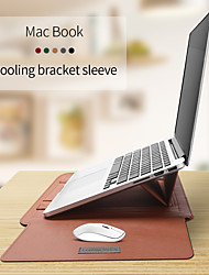 cheap -Combined Protection / Sleeves Solid Colored PU Leather for MacBook Air 13-inch / MacBook 12''