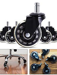 cheap -Office Chair Caster Wheels Swivel Rubber Caster Wheels Replacement Soft Safe Rollers Furniture Hardware