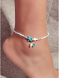 cheap -Anklet Fashion European Boho Women's Body Jewelry For Holiday Beach Beads Resin Starfish Blue 1 Piece