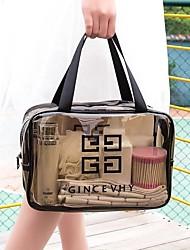 cheap -Transparent Cosmetic Bag Large Capacity Wash Bag PVC Waterproof Portable Storage Bag Travel Storage Bag Make Up Bag
