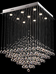 cheap -Crystal Chandelier Ceiling Light Square Design Modern Chandelier 80cm Lighting Flush Light Luster Indoor Light Fixtures 9 Heads