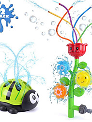 cheap -Outdoor Water Spray Sprinkler for Kids, Flower w/Wiggle Tubes&Ladybug-Shape of Spinning Sprinklers for Outside Play Summer Days, Splashing Fun Yard Toy-Sprays Up High Attaches to Garden Hose