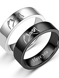 cheap -style titanium steel ring retro love ilove you jewelry