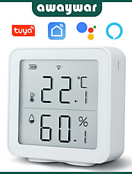 cheap -awaywar tuya wifi temperature and humidity sensor indoor hygrometer thermometer detector support alexa google home smart life