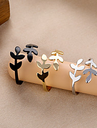 cheap -simple olive branch leaf female finger ring jewelry open ring