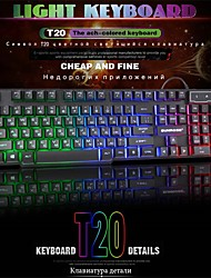 cheap -2021 hiperdeal new high quality russian and english wired gaming  men clavier 104 buttons led backlit keyboard for pc laptop