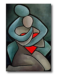 cheap -Stretched Oil Painting Hand Painted Canvas Abstract Comtemporary Modern High Quality People Lover Ready to Hang