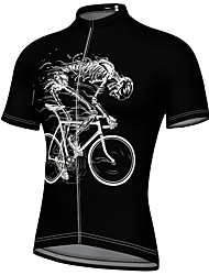 cheap -21Grams Men's Short Sleeve Cycling Jersey Summer Spandex Black Blue Yellow Bike Top Mountain Bike MTB Road Bike Cycling Quick Dry Breathable Sports Clothing Apparel / Athleisure