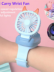 cheap -mini carry wrist fan watch portable rotatable usb charging air cooling fan detachable students toy watch table fan 2021 newest