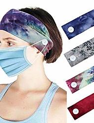 cheap -headband for women, relieve ear pressure button elastic non slip velvet hairdbands for women - 4 pcs