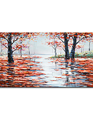cheap -Mintura&reg Large Size Hand Painted Red Trees Landscape Oil Painting On Canvas Modern Abstract Art Wall Picture For Home Decoration (Rolled Canvas without Frame)