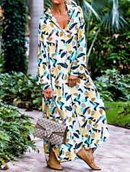 cheap -amazon quality european and american printing leisure vacation beach blouse dress shirt skirt long skirt pb1a075d