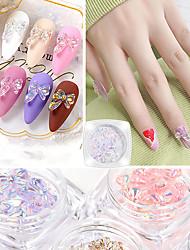 cheap -7pcs/Set Nail Art Butterfly Jewelry Aurora Phantom Color Nail Decoration Crystal Glue Three-dimensional Super Flash Japanese Nail Stickers