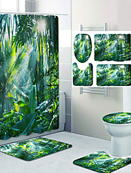 cheap -Coconut Trees In The Sunset Pattern Printing Bathroom Shower Curtain Leisure Toilet Four-Piece Design