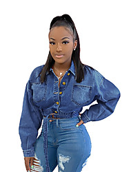 cheap -aliexpress wish amazon europe and america ebay new denim short jacket women