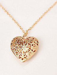 cheap -Women's Pendant Necklace Lockets Necklace Heart Fashion European Sweet Alloy Silver Gold 45 cm Necklace Jewelry 1pc For