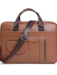 cheap -cross-border new product multifunctional briefcase men's leather handbag casual fashion 15.6-inch messenger computer bag
