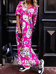 cheap -amazon quality european and american v-neck print skull beach skirt seaside holiday dress long skirt pb1a055a
