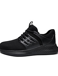 cheap -Men's Trainers Athletic Shoes Casual Daily Safety Shoes Tissage Volant Breathable Non-slipping Wear Proof Dark Grey Black Dark Blue Spring