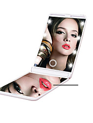 cheap -LED Folding Makeup Mirror Exquisite Hand Mirror With Light Portable Makeup Mirror Mirror Beauty Makeup Mirror
