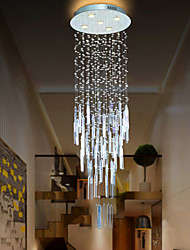 cheap -Modern Crystal Chandelier Ceiling Light Moon and Star Spiral Shape Design Chandelier For Lobby Stair Hotel Restaurant Dining Room Ceiling Pendant Lights Fixtures