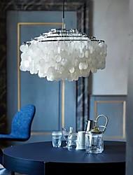 cheap -LED Pendant Light 50 cm  Shell Desgin Chandelier Metal Electroplated LED 110-120V 220-240V