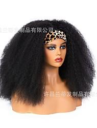 cheap -new style hair band wig amazon wig ladies fluffy explosive head chemical fiber headscarf wig headgear